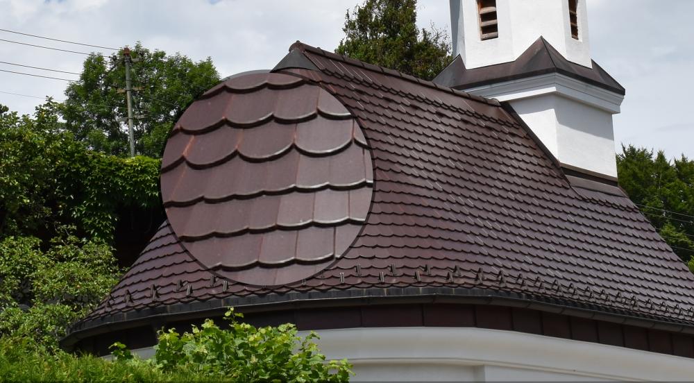 Dachziegel der Kapelle in Tutzingen