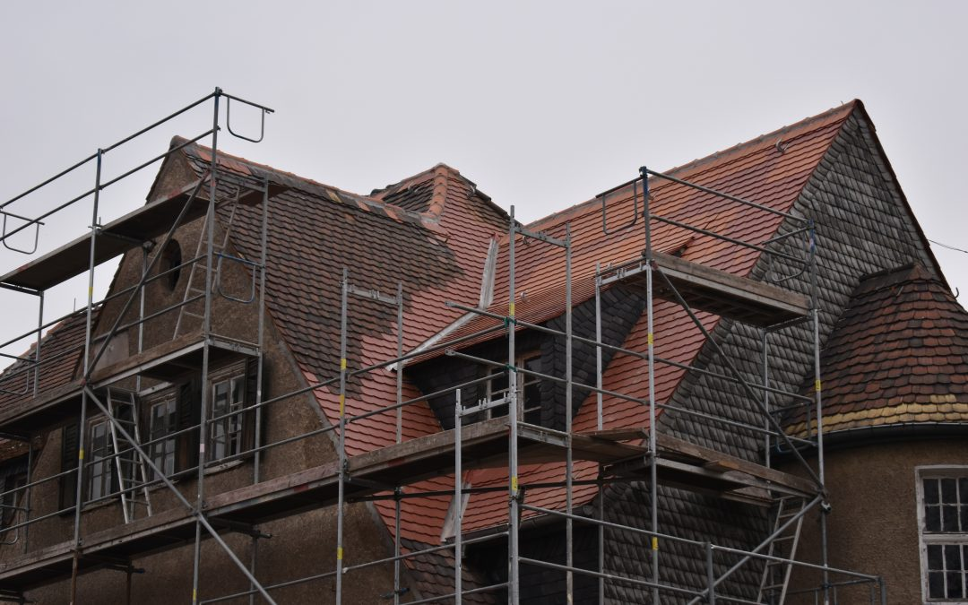 Referenz Sturmschäden an historischem Gebäude
