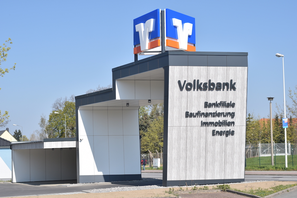 Eingangsportal Volksbank