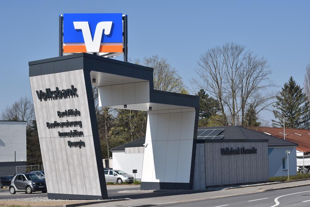 Volksbank Eingangsportal