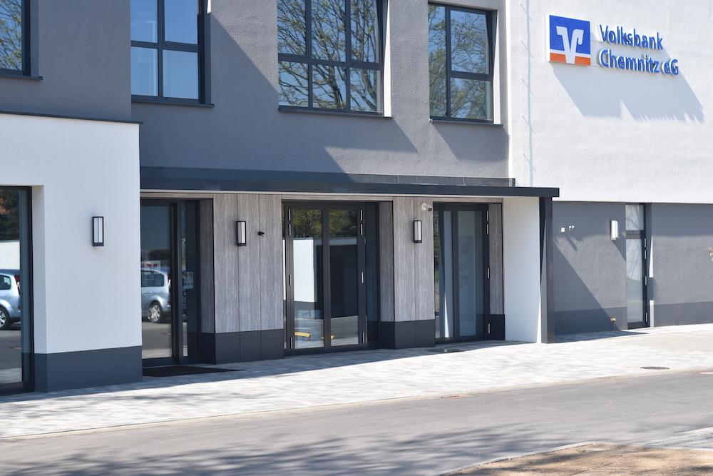 Eingang Volksbank