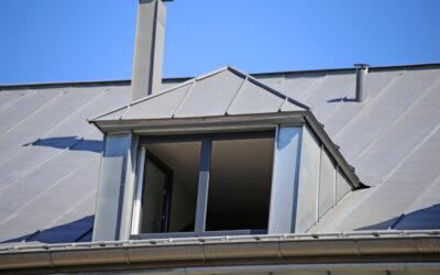 Metall am Dach